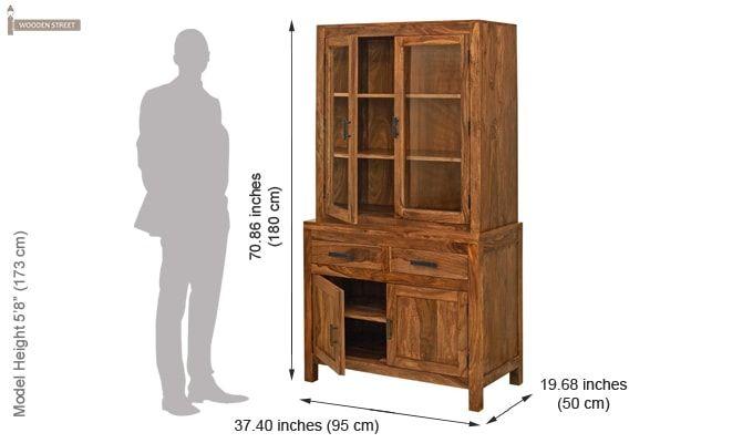 Prisma Kitchen Cabinet (Teak Finish)-4