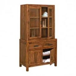 Prisma Kitchen Cabinet (Teak Finish)