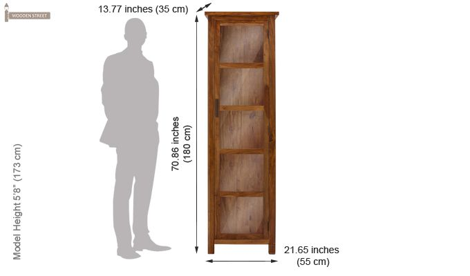Prima Kitchen Cabinet (Teak Finish)-4
