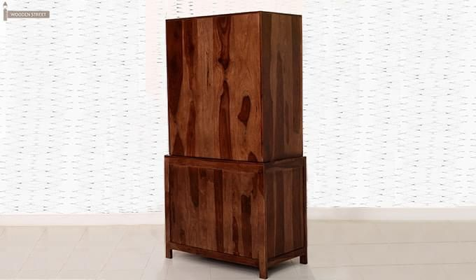 Prisma Kitchen Cabinet (Walnut Finish)-7