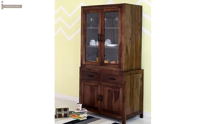 Prisma Kitchen Cabinet (Walnut Finish)-9
