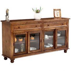 Pryce Kitchen Cabinets (Light Teak Finish)