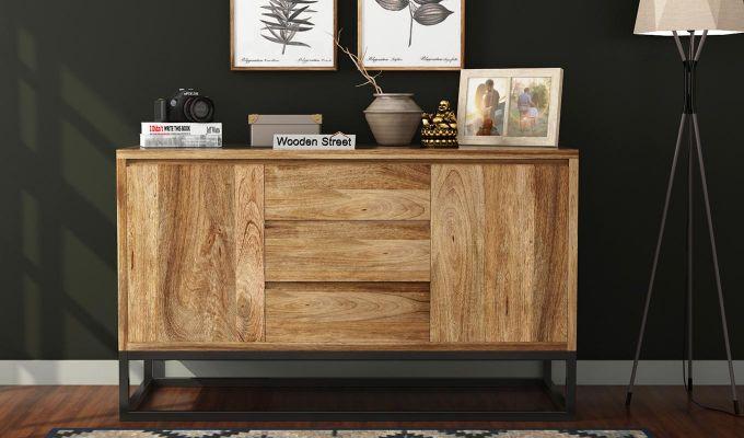 Ray Loft Three Drawer Sideboard (Natural Finish)-2
