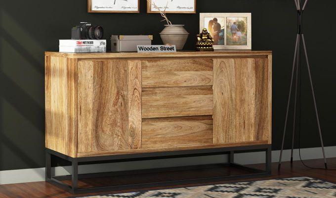 Ray Loft Three Drawer Sideboard (Natural Finish)-1