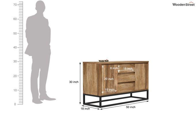 Ray Loft Three Drawer Sideboard (Natural Finish)-7