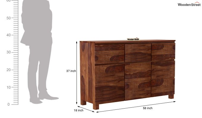 Roger Sideboard (Teak Finish)-7