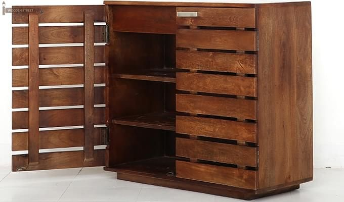 Rowan Multi Utility Cabinet (Teak Finish)-5