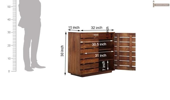 Rowan Multi Utility Cabinet (Teak Finish)-7