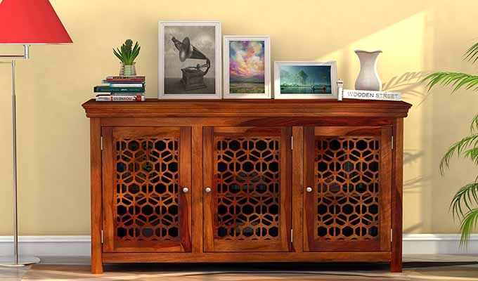 Triton Sideboard (Honey Finish)-1
