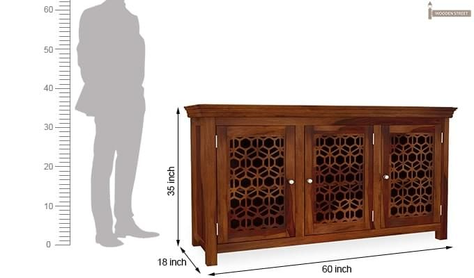 Triton Sideboard (Honey Finish)-6