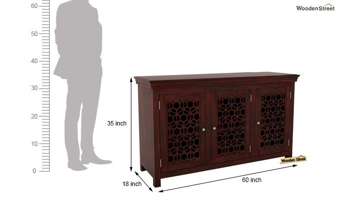 Triton Sideboard (Mahogany Finish)-5