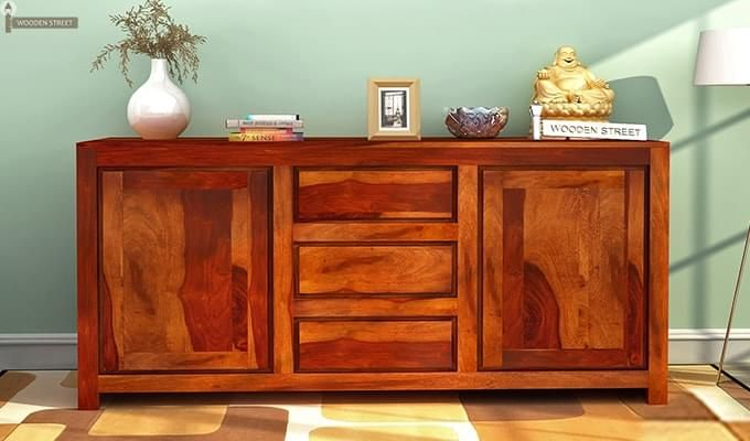 Warrican Sideboard (Honey Finish)-1