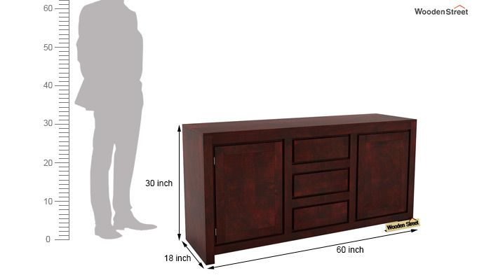Warrican Sideboard (Mahogany Finish)-6