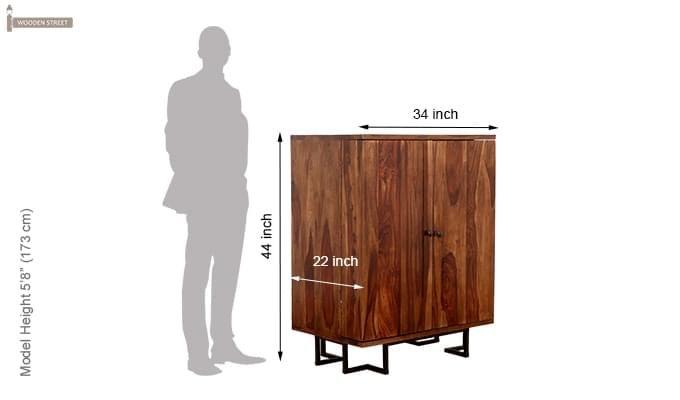 Zimer Cabinet (Teak Finish) -9