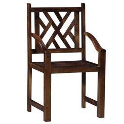 Abdy Arm Chair (Teak Finish)