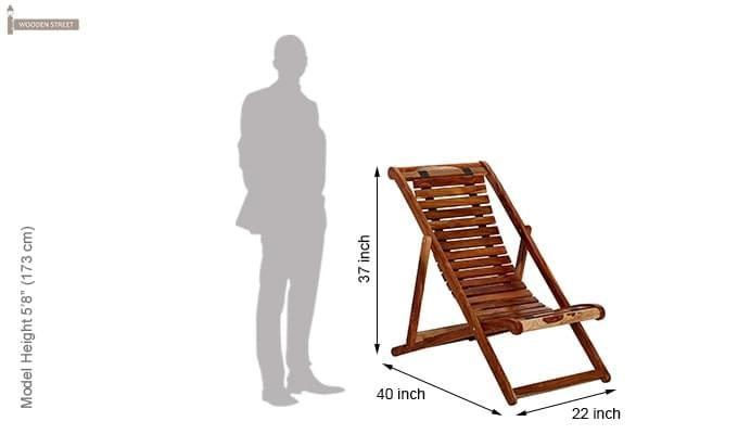 Bosco Wooden Chair (Teak Finish)-7