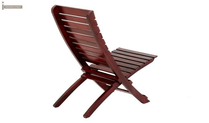 Bristal Wooden Balcony chair (Mahogany Finish)-3