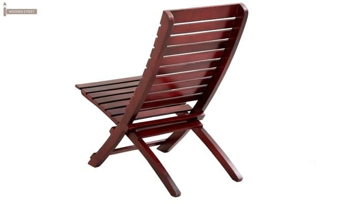 Bristal Wooden Balcony chair (Mahogany Finish)-4