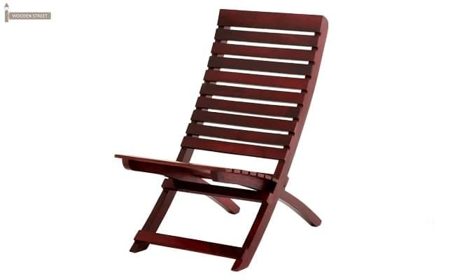 Bristal Wooden Balcony chair (Mahogany Finish)-5