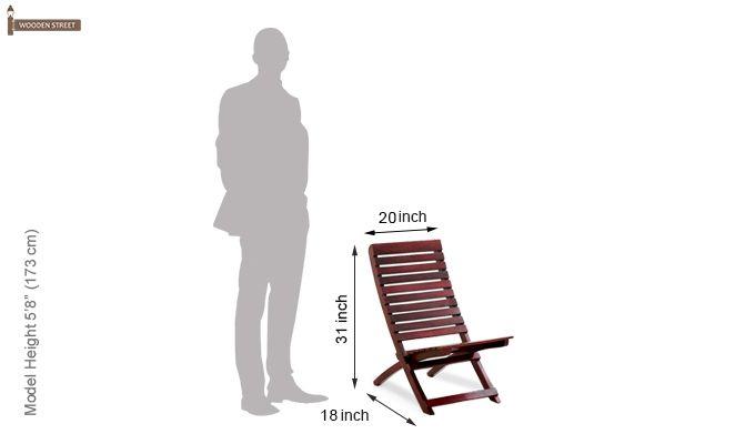 Bristal Wooden Balcony chair (Mahogany Finish)-6