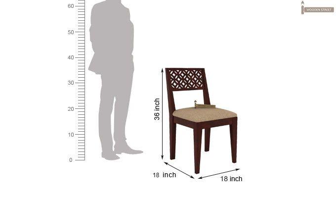 Cambrey Study Chair (Mahogany Finish)-4