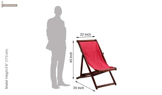 Clairon Single Seater Balcony chair (Mahogany Finish)-5