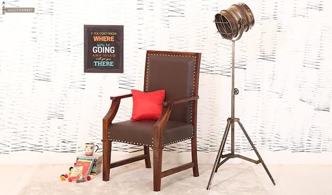 Devy Wooden Chair (Teak Finish)-1