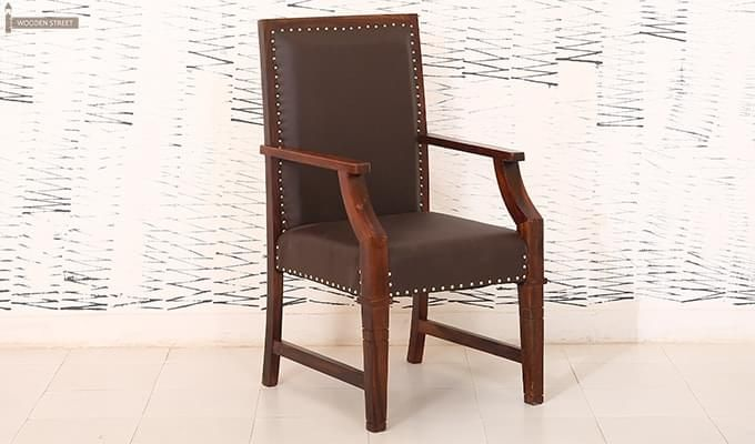 Devy Wooden Chair (Teak Finish)-2