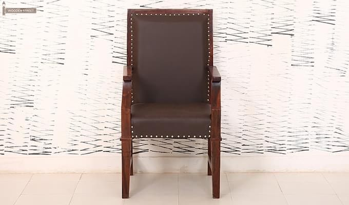 Devy Wooden Chair (Teak Finish)-3