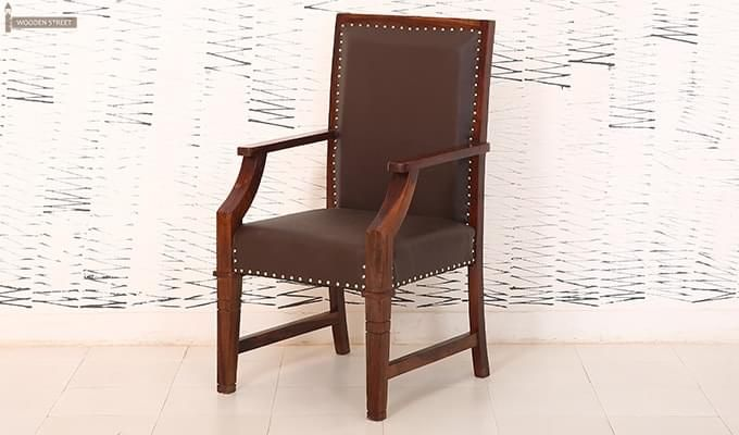 Devy Wooden Chair (Teak Finish)-4