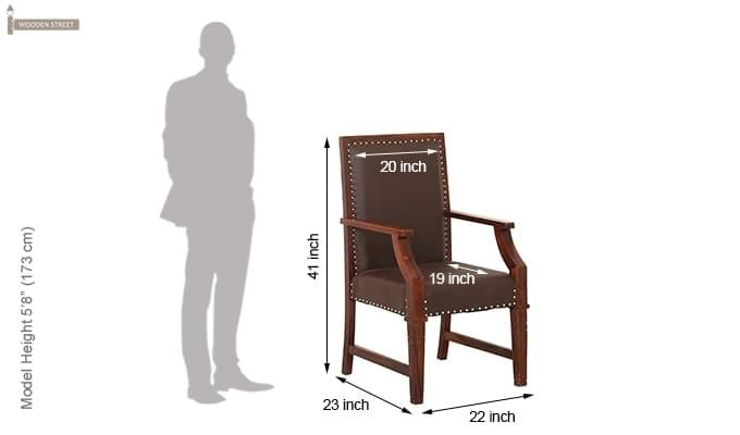 Devy Wooden Chair (Teak Finish)-6
