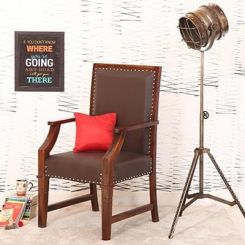 Devy Wooden Chair (Teak Finish)