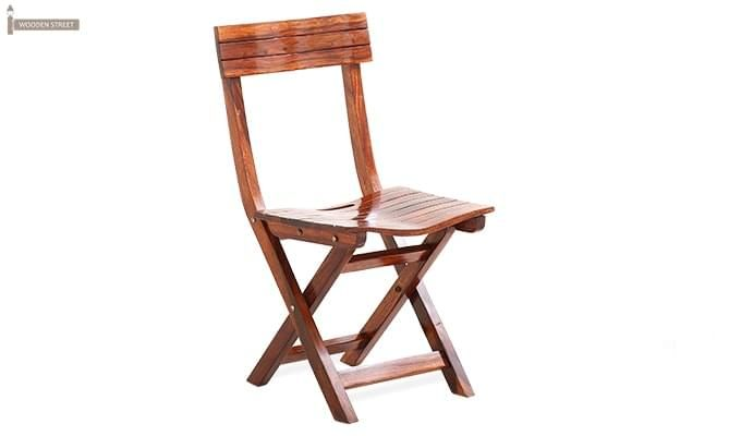 Kirby Folding Balcony chair (Honey Finish)-1