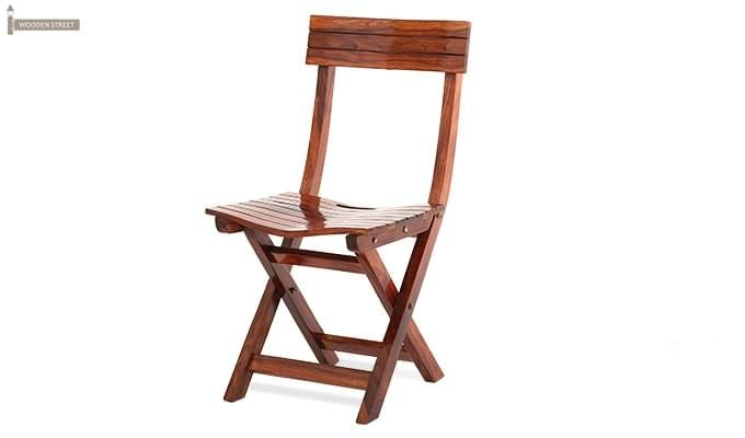 Kirby Folding Balcony chair (Honey Finish)-3