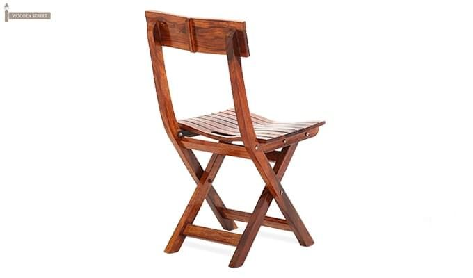 Kirby Folding Balcony chair (Honey Finish)-5