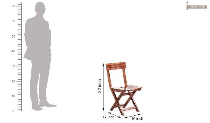 Kirby Folding Balcony chair (Honey Finish)-7