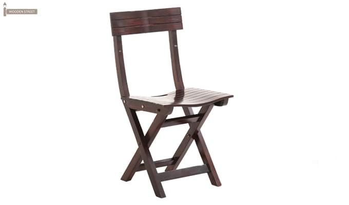 Kirby Folding Balcony chair (Walnut Finish)-1