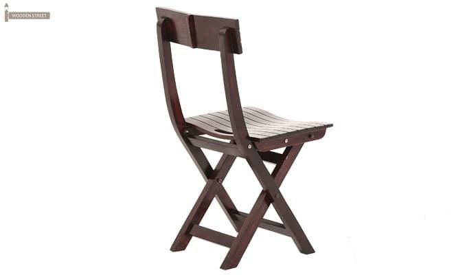 Kirby Folding Balcony chair (Walnut Finish)-4