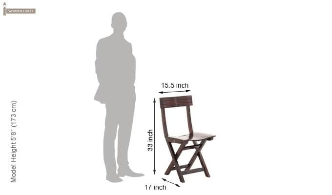 Kirby Folding Balcony chair (Walnut Finish)-7