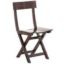Kirby Folding Balcony chair (Walnut Finish)
