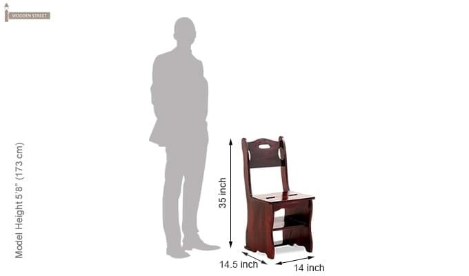 Ladbury Folding Chair (Mahogany Finish)-9
