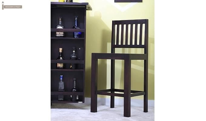 Neel Bar Chair (Mahogany Finish)-1