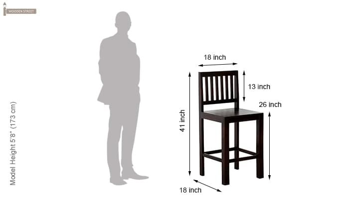 Neel Bar Chair (Mahogany Finish)-5