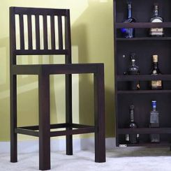 Neel Bar Chair (Mahogany Finish)