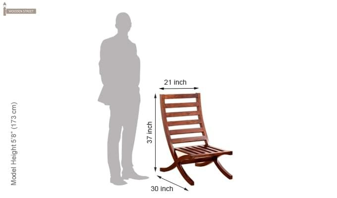 Novelo Balcony chair (Teak Finish)-8