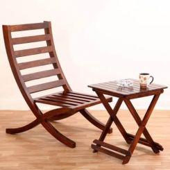 Novelo Balcony chair (Teak Finish)