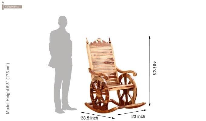 Silvio Rocking Chair (Natural Finish)-7