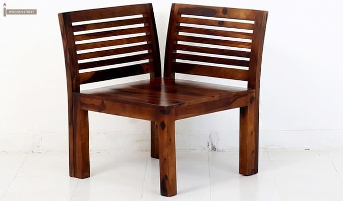 Vettel Rocking Chair (Teak Finish)-3