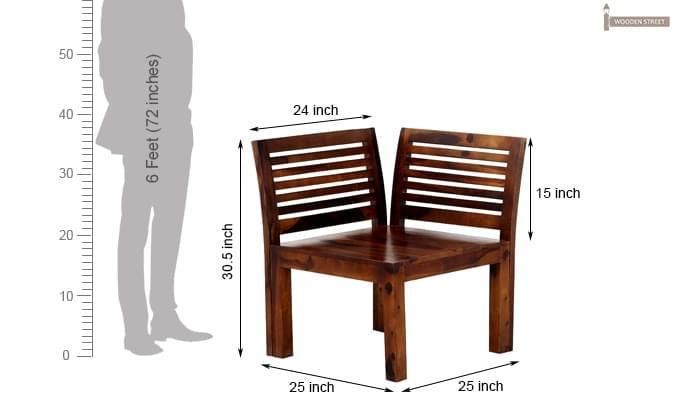 Vettel Rocking Chair (Teak Finish)-7