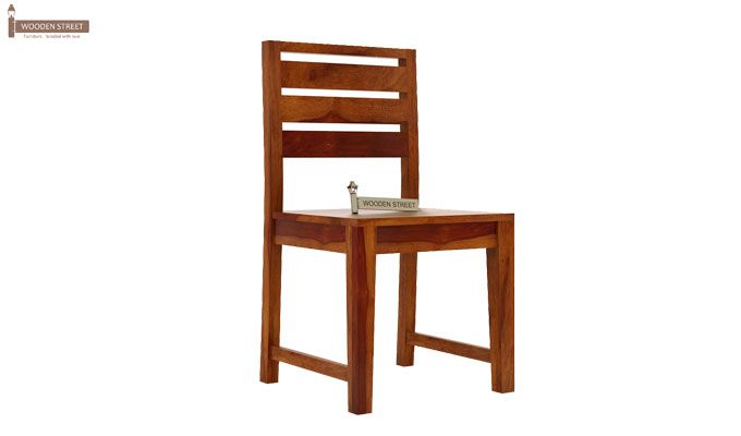 Zampa Dining Chair without Fabric (Honey Finish)-1